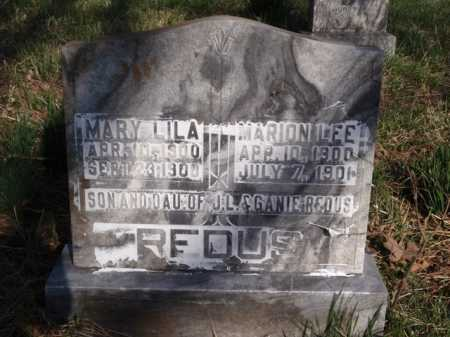 REDUS, MARION LEE - Boone County, Arkansas | MARION LEE REDUS - Arkansas Gravestone Photos