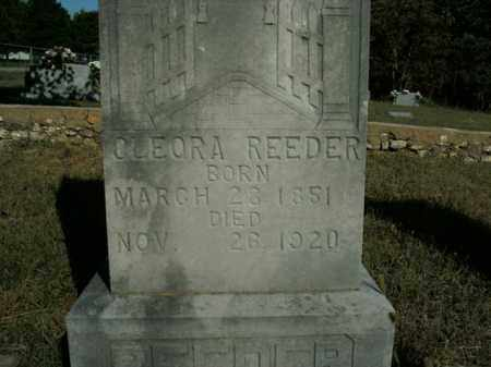 REEDER, CLEORA - Boone County, Arkansas | CLEORA REEDER - Arkansas Gravestone Photos