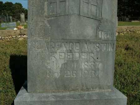 REEDER, CLARENCE AUSTIN - Boone County, Arkansas | CLARENCE AUSTIN REEDER - Arkansas Gravestone Photos