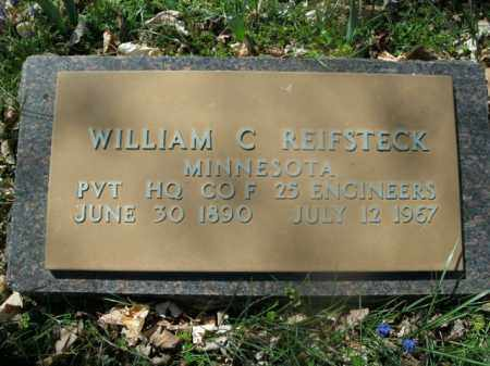 REIFSTECK  (VETERAN), WILLIAM C - Boone County, Arkansas | WILLIAM C REIFSTECK  (VETERAN) - Arkansas Gravestone Photos