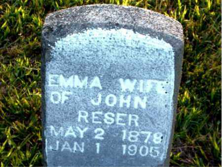 RESER, EMMA - Boone County, Arkansas | EMMA RESER - Arkansas Gravestone Photos