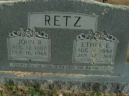 RETZ, ETHEL E. - Boone County, Arkansas | ETHEL E. RETZ - Arkansas Gravestone Photos