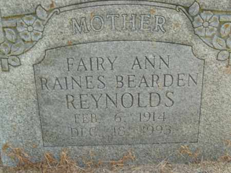 RAINES REYNOLDS, FAIRY ANN - Boone County, Arkansas | FAIRY ANN RAINES REYNOLDS - Arkansas Gravestone Photos