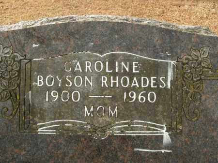 BOYSON RHOADES, CAROLINE - Boone County, Arkansas | CAROLINE BOYSON RHOADES - Arkansas Gravestone Photos