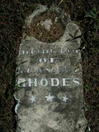 RHODES, INFANT DAUGHTER - Boone County, Arkansas | INFANT DAUGHTER RHODES - Arkansas Gravestone Photos