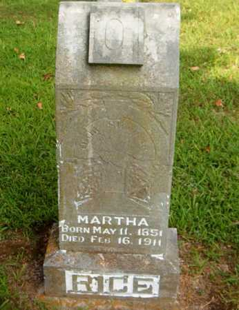 RICE, MARTHA - Boone County, Arkansas | MARTHA RICE - Arkansas Gravestone Photos