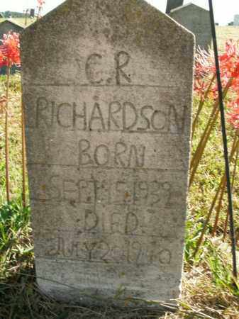 RICHARDSON, C.R. - Boone County, Arkansas | C.R. RICHARDSON - Arkansas Gravestone Photos