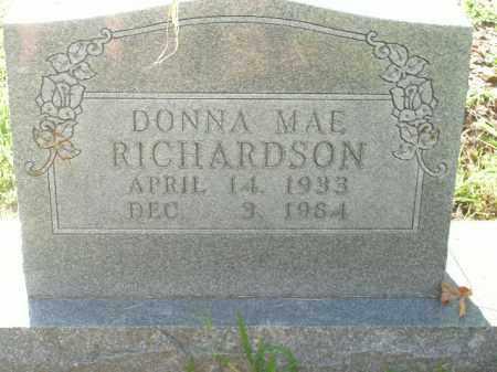 RICHARDSON, DONNA MAE - Boone County, Arkansas | DONNA MAE RICHARDSON - Arkansas Gravestone Photos