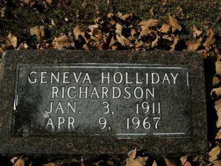HOLLIDAY RICHARDSON, GENEVA - Boone County, Arkansas | GENEVA HOLLIDAY RICHARDSON - Arkansas Gravestone Photos