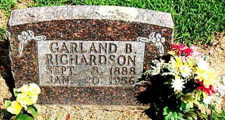 RICHARDSON, GARLAND BLAINE - Boone County, Arkansas | GARLAND BLAINE RICHARDSON - Arkansas Gravestone Photos