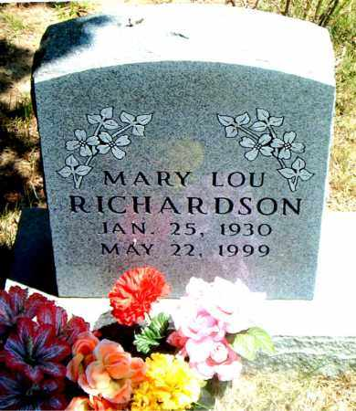 RICHARDSON, MARY LOU - Boone County, Arkansas | MARY LOU RICHARDSON - Arkansas Gravestone Photos