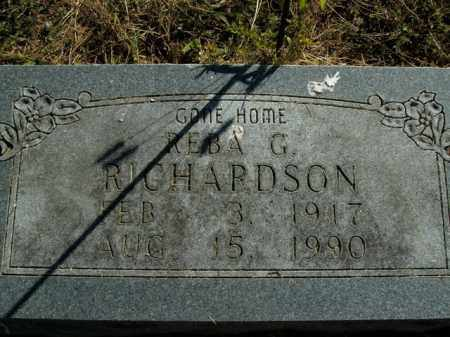 RICHARDSON, REBA G. - Boone County, Arkansas | REBA G. RICHARDSON - Arkansas Gravestone Photos