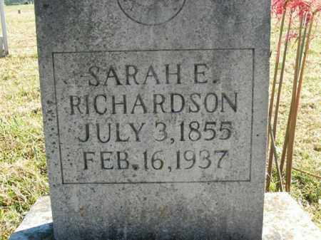 RICHARDSON, SARAH E. - Boone County, Arkansas | SARAH E. RICHARDSON - Arkansas Gravestone Photos