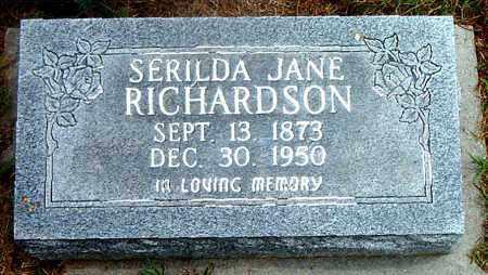 RICHARDSON, SERILDA JANE - Boone County, Arkansas | SERILDA JANE RICHARDSON - Arkansas Gravestone Photos
