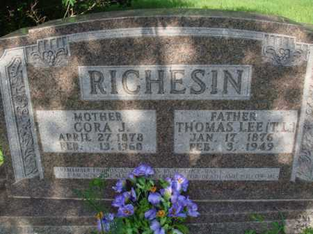 RICHESIN, CORA JANE - Boone County, Arkansas | CORA JANE RICHESIN - Arkansas Gravestone Photos