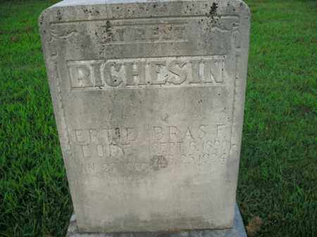 RICHESIN, BRAS F. - Boone County, Arkansas | BRAS F. RICHESIN - Arkansas Gravestone Photos