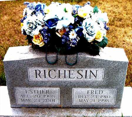 RICHESIN, ESTHER - Boone County, Arkansas | ESTHER RICHESIN - Arkansas Gravestone Photos