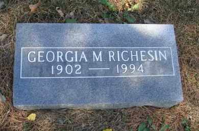 RICHESIN, GEORGIA M. - Boone County, Arkansas | GEORGIA M. RICHESIN - Arkansas Gravestone Photos