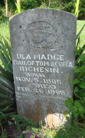 RICHESIN, ULA MADGE - Boone County, Arkansas | ULA MADGE RICHESIN - Arkansas Gravestone Photos