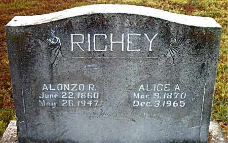 RICHEY, ALONZO R. - Boone County, Arkansas | ALONZO R. RICHEY - Arkansas Gravestone Photos