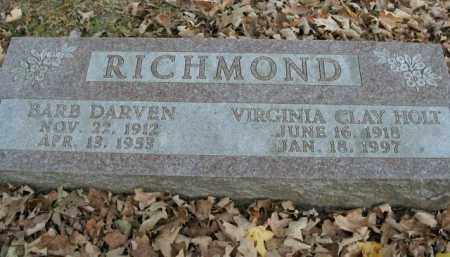 HOLT RICHMOND, VIRGINIA CLAY - Boone County, Arkansas | VIRGINIA CLAY HOLT RICHMOND - Arkansas Gravestone Photos