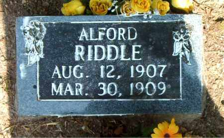 RIDDLE, ALFORD - Boone County, Arkansas | ALFORD RIDDLE - Arkansas Gravestone Photos