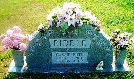 RIDDLE, CASSIE RUTH - Boone County, Arkansas | CASSIE RUTH RIDDLE - Arkansas Gravestone Photos
