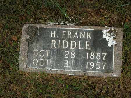 RIDDLE, H. FRANK - Boone County, Arkansas | H. FRANK RIDDLE - Arkansas Gravestone Photos