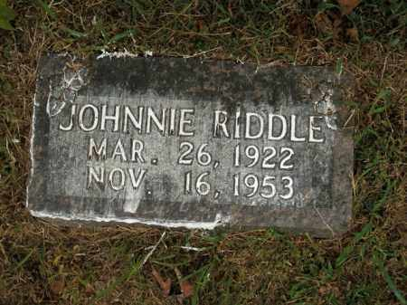 RIDDLE, JOHNNIE - Boone County, Arkansas | JOHNNIE RIDDLE - Arkansas Gravestone Photos