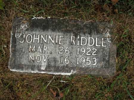 RIDDLE, JOHNNIE - Boone County, Arkansas | JOHNNIE RIDDLE - Arkansas Gravestone Photos