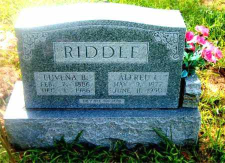 RIDDLE, ALFRED L. - Boone County, Arkansas | ALFRED L. RIDDLE - Arkansas Gravestone Photos