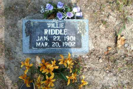 RIDDLE, WILLIE - Boone County, Arkansas | WILLIE RIDDLE - Arkansas Gravestone Photos