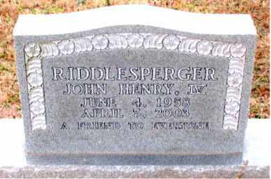RIDDLESPERGER, IV, JOHN HENRY - Boone County, Arkansas | JOHN HENRY RIDDLESPERGER, IV - Arkansas Gravestone Photos