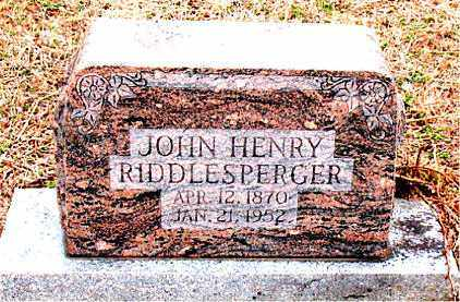 RIDDLESPERGER, JOHN HENRY - Boone County, Arkansas | JOHN HENRY RIDDLESPERGER - Arkansas Gravestone Photos