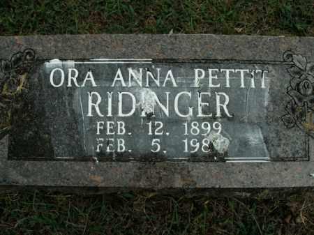 ROWLETT RIDINGER, ORA ANNA - Boone County, Arkansas | ORA ANNA ROWLETT RIDINGER - Arkansas Gravestone Photos