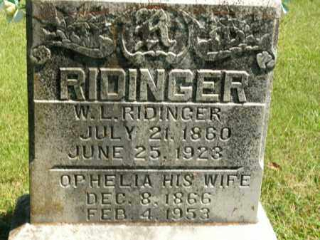 RIDINGER, WILL L. - Boone County, Arkansas | WILL L. RIDINGER - Arkansas Gravestone Photos