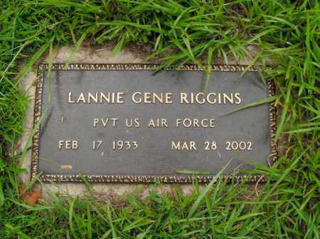 RIGGINS  (VETERAN), LANNIE GENE - Boone County, Arkansas | LANNIE GENE RIGGINS  (VETERAN) - Arkansas Gravestone Photos