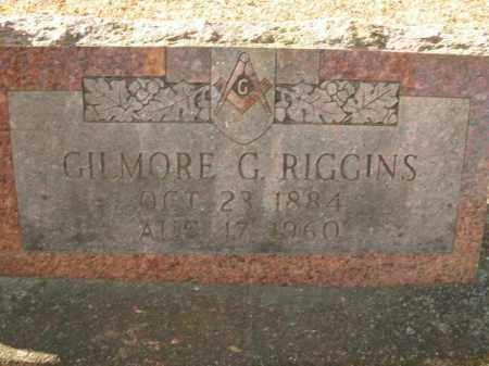 RIGGINS, GILMORE G. - Boone County, Arkansas | GILMORE G. RIGGINS - Arkansas Gravestone Photos