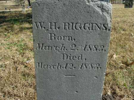 RIGGINS, W.H. - Boone County, Arkansas | W.H. RIGGINS - Arkansas Gravestone Photos