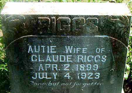 RIGGS, AUTIE - Boone County, Arkansas | AUTIE RIGGS - Arkansas Gravestone Photos
