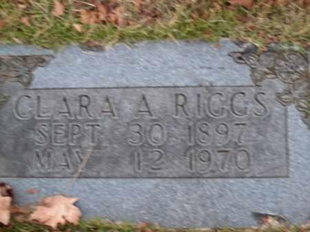 RIGGS, CLARA A. - Boone County, Arkansas | CLARA A. RIGGS - Arkansas Gravestone Photos