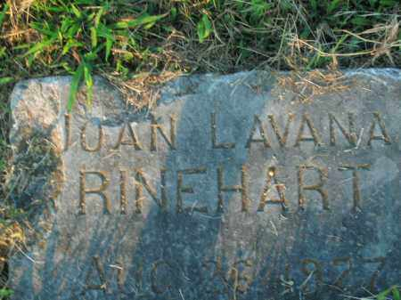 RINEHART, JOAN LAVANA - Boone County, Arkansas | JOAN LAVANA RINEHART - Arkansas Gravestone Photos
