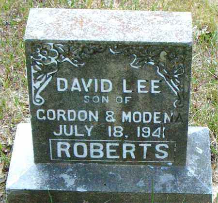 ROBERTS, DAVID LEE - Boone County, Arkansas | DAVID LEE ROBERTS - Arkansas Gravestone Photos
