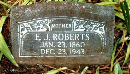 ROBERTS, E.  J. - Boone County, Arkansas | E.  J. ROBERTS - Arkansas Gravestone Photos