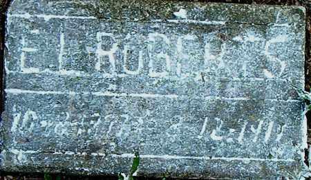 ROBERTS, E.  L. - Boone County, Arkansas | E.  L. ROBERTS - Arkansas Gravestone Photos
