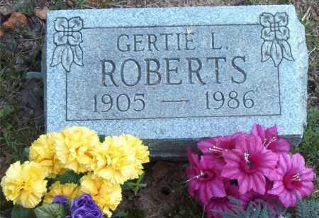 ROBERTS, GERTIE  LOUVINNIA - Boone County, Arkansas | GERTIE  LOUVINNIA ROBERTS - Arkansas Gravestone Photos