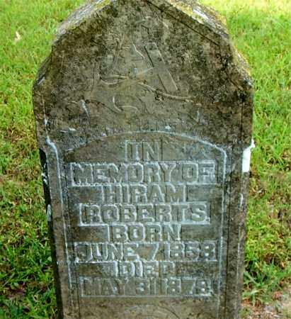 ROBERTS, HIRAM - Boone County, Arkansas | HIRAM ROBERTS - Arkansas Gravestone Photos