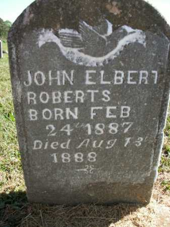 ROBERTS, JOHN ELBERT - Boone County, Arkansas | JOHN ELBERT ROBERTS - Arkansas Gravestone Photos