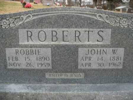 ROBERTS, JOHN W. - Boone County, Arkansas | JOHN W. ROBERTS - Arkansas Gravestone Photos