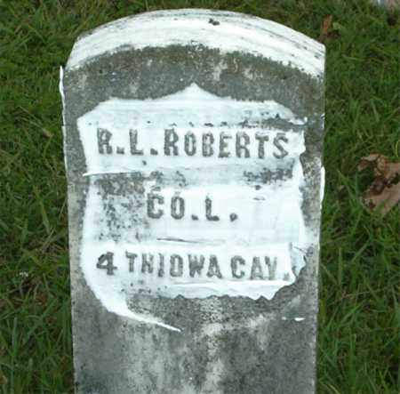ROBERTS  (VETERAN UNION), R.  L. - Boone County, Arkansas | R.  L. ROBERTS  (VETERAN UNION) - Arkansas Gravestone Photos